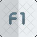 F 1 Key F 1 Function Key Icon