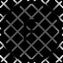 F Alphabet Sign Icon
