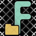 F Alphabet Education Icon