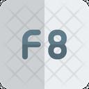 F 8 Key F 8 Function Key Icon