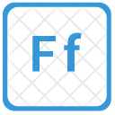 F Latin Letter Icon