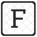 F Uppercase Letter Icon