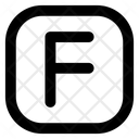 F Letter Alphabet Rudiment Icon