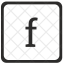 F Lowcase Letter Icon