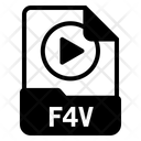 File F 4 V Format Icon