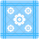 Blue Fabric Printed Icon