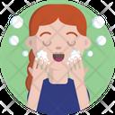 Beauty Face Washing Icon