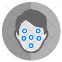 Face Biometry Dots Icon