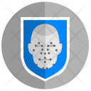 Face Biometry Guard Icon