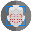 Face Biometry Scan Icon