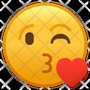Face Blowing A Kiss Emoji Emoticon Icon