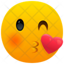 Face Blowing A Kiss Emoji Emotion Icon