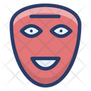 Face Mask Carnival Mask Props Icon