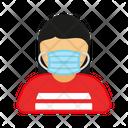 Woman Covid 19 Virus Icon