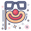 Face Mask Carnival Mask Face Props Icon