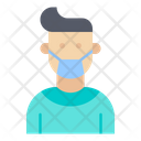 Face Mask Wearing Coronavirus Icon