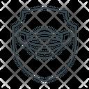 Mask Protection Myself Shield Icon