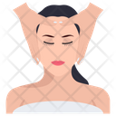 Facial Salon Services Face Massage Icon
