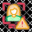 Face recognition error Icon