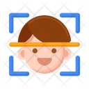 Face Scanner Face Recognition Face Lock Icon