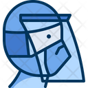 Shield Face Wearing Icon