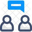 Face To Face Converasation Chatting Chat Icon