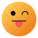 Face With Center Tongue Emoji Face Icon