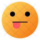 Face With Left Tongue Emoji Face Icon