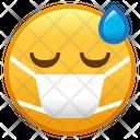 Face With Medical Mask Emoji Emoticon Icon