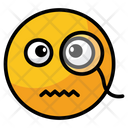 Face With Monocle Emoji Face Icon
