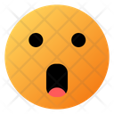 Face With Open Mouth Emoji Face Icon