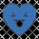 Facewithtongue Heart Smiley Icon
