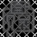 Fax Facsimile Telecopying Icon