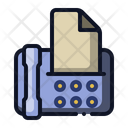 Facsimile Fax Communication Icon