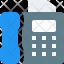 Facsimile Fax Telephone Icon