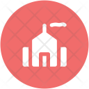 Factory Building Real Icon