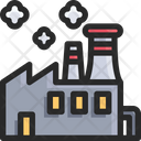 Factory Industry Manufacturing Building Icon