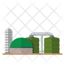 Anaerobic digestion power plant Icon