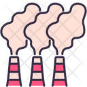 Factory Smoke Pollution Icon