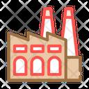 Factory Environmental Pollution Icon