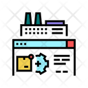 Factory Manufacturing Automation Icon