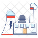 Manufacturing Production Factory Power Plant Icon
