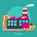 Factory Building Construction Icon