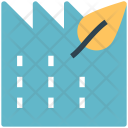 Eco Building Factory Icon