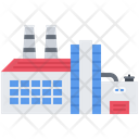 Factory Production Building Icon