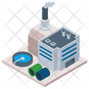 Factory Building Mill Commercial Building Icon