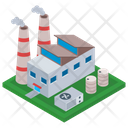 Oil Refinery Industry Mill Factory Icon
