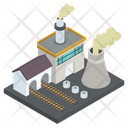 Factory Building Industry Mill Icon