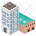 Factory Building Industrial Building Power Plant Icon