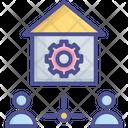 Factory Labour Demand Factory Icon